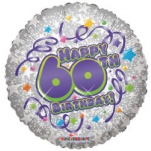 "60th BIRTHDAY BALLOON  18""  17926-18"